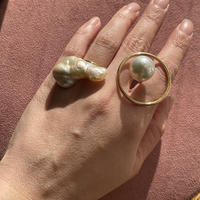 Baroque Pearl big fish ring