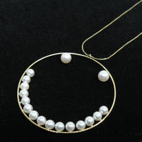 """""""W""""besmile Hooped Necklace"""
