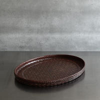 古道具部 籃胎漆器の楕円盆