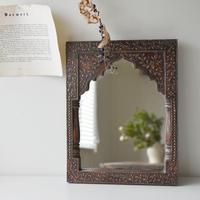 古道具部 木彫りの鏡