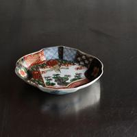 古道具部 色絵菱型変形皿