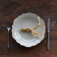 たくまポタリー 芙蓉 8寸皿 つや白