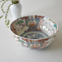 古道具部 色絵大鉢 鳳凰に松・白梅 見込みに筍