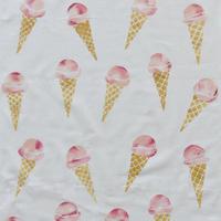 アケモドロ 型染め手ぬぐい アイスクリーム