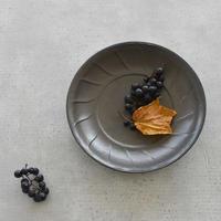 たくまポタリー 風 7寸皿 こげ茶