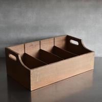 古道具部 持ち手付き 仕切り木箱