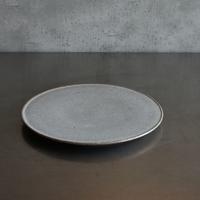 たくまポタリー 7寸 プレート皿 つやグレー