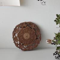 古道具部 木彫りのレリーフ台