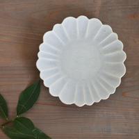 たくまポタリー ハナ 7寸皿 やわグレー