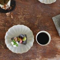 たくまポタリー 6寸皿 ハナ やわグレー