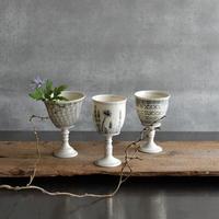 マイケル・ケリー 安南手ワインカップ 植物柄