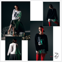 "[Zidans] Long sleeve T-shirt with collage print ""the unknown soldier of corps de ballet"""