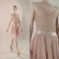 [Just A Corpse] POLKA-TULLE – short square skirt (blush / blue / nude / black)