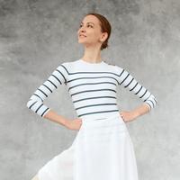 [Ballet Maniacs] Nautical striped cut leotard