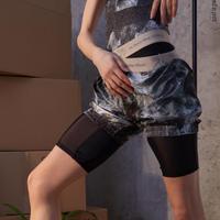 [予約商品・Zidans] Sauna-shorts, stained in print Mud