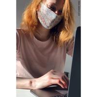 [予約商品・Zidans] Reusable safety mask stained in print