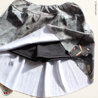 [Zi dancewear x quatre-quarts 別注] The Skirt + Shorts Stretch, stained with the print Mud