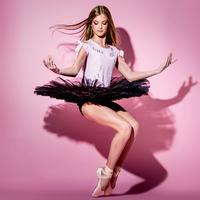 [Ballet Papier] T-SHIRT CROPPED 'BALLET GIRL'