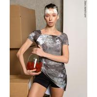 [予約商品・Zidans] The Skirt + Shorts Stretch, stained with the print Mud