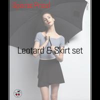 [予約商品特別セット価格・Zi dancewear] T-Leotard & Skirt M丈 set