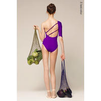 "[Zi dancewear] 1 Sleeve 1 Strap leotard ""Violet"""