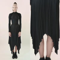 [Just A Corpse]  SUN-RAY – black square skirt
