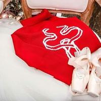 [予約商品・Ballet Maniacs] Pointe shoes reindeer Sweater