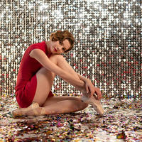 [Ballet Maniacs] Red Poppy leotard by Kristina Kretova