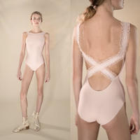 [Just A Corpse] ELEANOR – blush cross back leotard