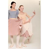 [Zi dancewear] B9 (nude/pink) two-sided rehearsal skirt with elasticated waist