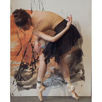 "[Ballet Maniacs] Tunique-skirt ""GSB-Black Mesh"""
