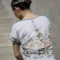 [Zidans] 無くなり次第終了 Two-sided First T-shirt with the print facade mesh