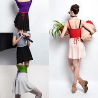 [Zidans] Wrap chiffon skirt with contrast ribbon・M丈
