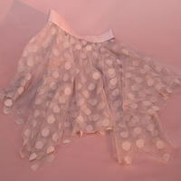 [Just A Corpse] JUMBO POLKA-TULLE – nude short square skirt 192SK02PS