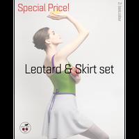 [予約商品特別セット価格・Zi dancewear] Strap Leotard & Skirt M丈 set