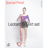[予約商品特別セット価格・Zi dancewear] 2 Sleeves Leotard & Skirt S丈 set