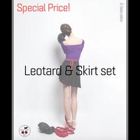 [予約商品特別セット価格・Zi dancewear] 2 Sleeved Leotard & Skirt M丈 set