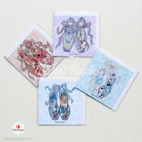 [Ballet Papier] GREETING CARD SET 'POINTE 4'