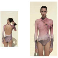 [Just A Corpse・予約商品] STORMY LEOTARD WITH LONG SLEEVES - BLUSH