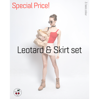 [予約商品特別セット価格・Zi dancewear] Strap Leotard & Skirt S丈 set