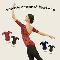 [S M K] VELVET CREORA® SLEEVED-LEOTARD