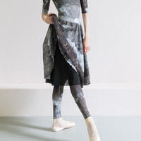 [Zi dancewear] Rehearsal skirt, stained with the print Mud