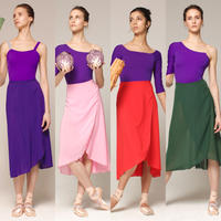 [Zidans] Chiffon wrap skirt New Colours・EL丈