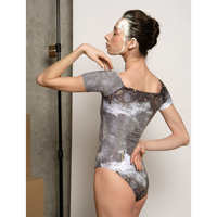 [予約商品・Zi dancewear] T-leotard, stained with the print Mud