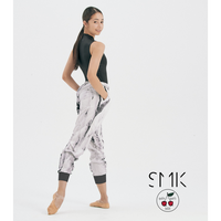 "[S M K] WHITE ICE RECYCLED POLYESTER UNISEX PANTS ""シャカパン"""