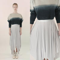 [Just A Corpse]  SUN-RAY – ice gray square skirt