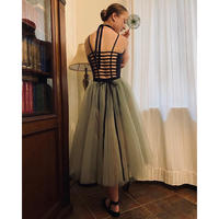 [Ballet Maniacs・Ready to Wear] Sagebrush Tulle-skirt Maxi