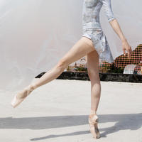 [Zi dancewear] The Skirt + Shorts Stretch, stained with the print Delicate Dirt