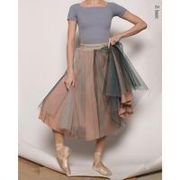 [予約商品・Zi dancewear] Rehearsal tulle skirt Butterbrot