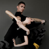 [Ballet Maniacs] T-shirt Black Natural Born Ballet Maniacs for boys & girls by Igor Kolb